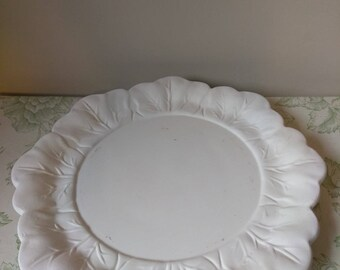 Vintage 70s Holland Mold leaf plates unpainted.