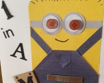 Character Themed  Minion Birthday Card