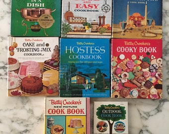 Vintage Betty Crocker cookbook collection-JUST ADDED!! BC Cooking Calendar!!
