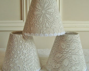 A lovely faux lace lampshade 11 x 13 cm / 4.3 x 5.1 ins for wall Light, sconce or ceiling chandelier