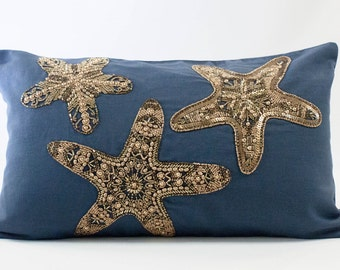 Cushion Blue Stars