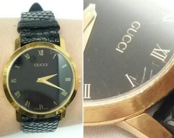 Gucci 2200 M 1990s Swiss Quartz Movement Designer Wrist Watch ~ Birthday Anniversary Valentine's Roman Numerals Gold Toned Luxury Classy