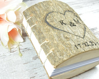 Wedding Guest Book Wedding Guestbook Wooden book Rustic Guest Book