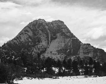 Pine Valley Peak in winter