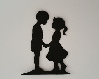 Couple Silhouette Die Cuts