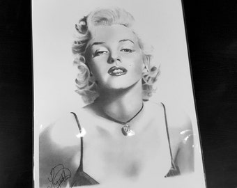 Marilyn Monroe pencil drawing