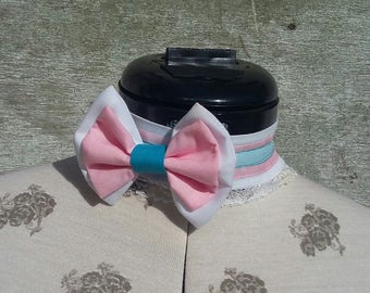 Sylveon Inspired Fabric Choker With Ribbon Tie