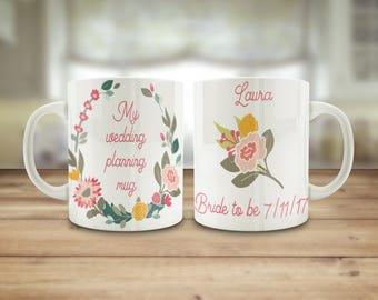 Bride to be mug, wedding planning mug, bride to be gift, bridal mug, bridezilla gift, wedding planning gift, Engagement gift, Easter gift