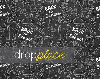 Back to School Backdrop Chalkboard  Photography Background Blackboard Photo Prop Kids drop (Multiple Sizes Available)