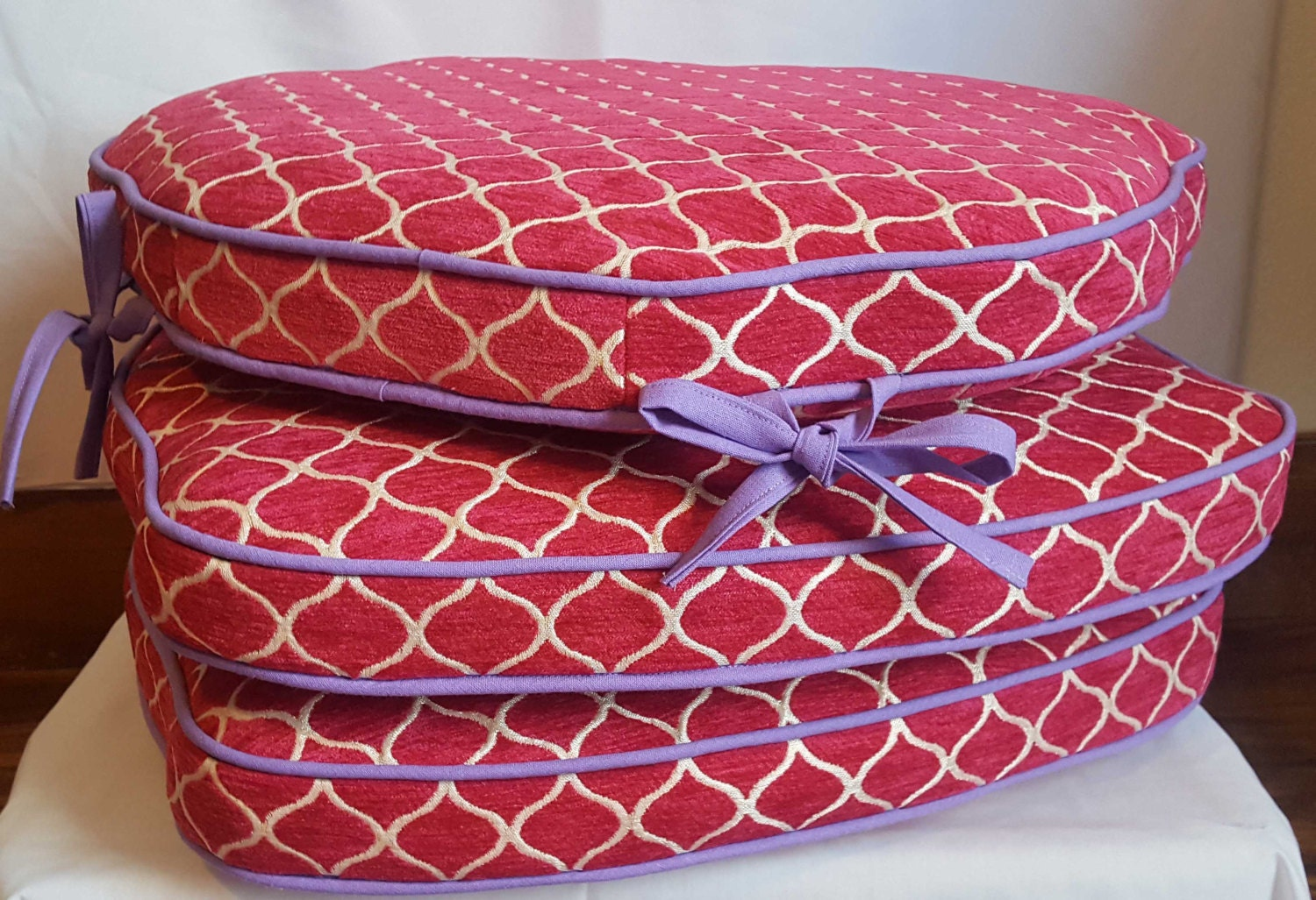 Chair Cushion With Ties Custom Made Kitchen Chair Pad In