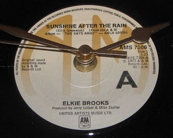 "Elkie Brooks sunshine after the rain  7"" vinyl record clock"