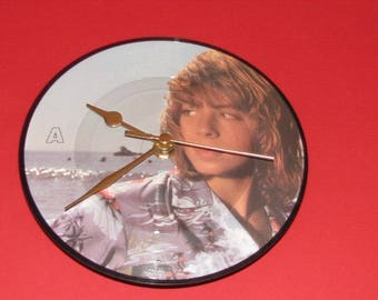 "Leif Garrett I was made for dancin'  7"" picture disc vinyl record clock"