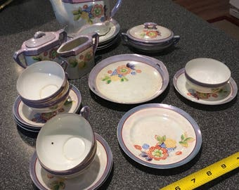 Lusterware childs tea set
