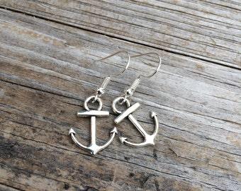 Anchor Earrings, Charm Earrings, Nautical Earrings, Ocean Earrings, Gifts for her