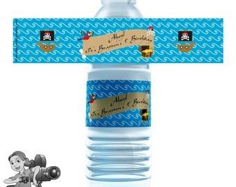 Pirate Water Bottle Labels