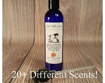 8oz Goat Milk Lotion with Pump, Goat Milk Hand Cream, Body Lotion, 20+ Different Scents!