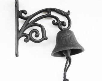 Cast Iron Small Scroll Bell