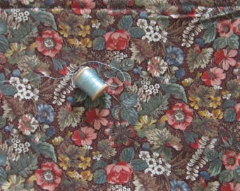 Lovely Joan Kessler Multi and Brown Floral Fabric 43""