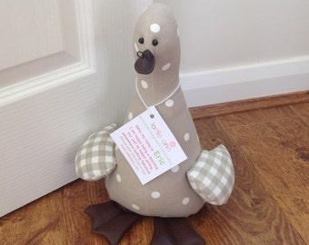 Eric! Duck Doorstop, Fabric Doorstop, Novelty Doorstop, Novelty Gift, Personalised Gift
