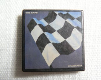 Vintage Early 80s The Cars Panorama Album (1980) Pin / Button / Badge