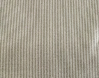 Beige Ticking - Upholstery Fabric by The Yard
