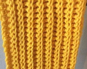 Chunky Crochet Cowl Neck Infinity Scarf