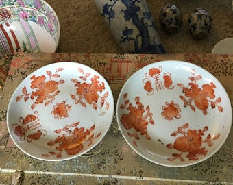 Two Chinese matching small plates