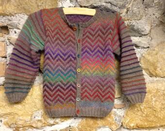 Waistcoat child zigzag knit Kit