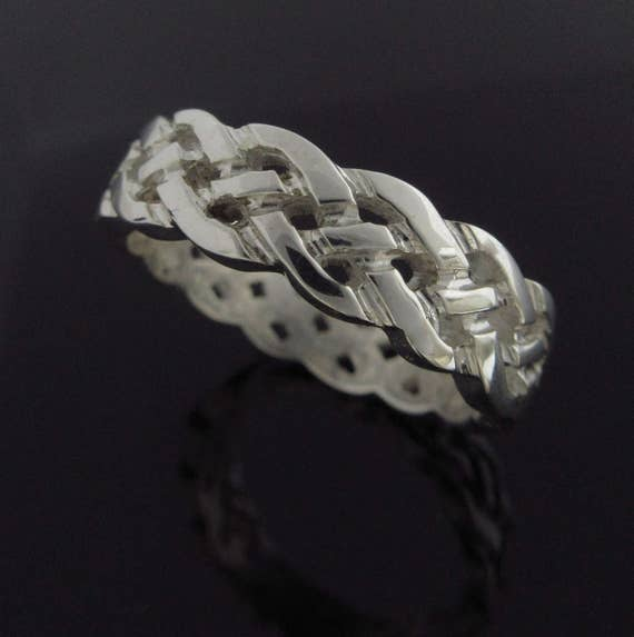 Celtic Knot Band - Sterling Silver Celtic Knot Ring - Celtic Wedding Band - Unisex Ring - Irish Jewelry - Silver Jewelry