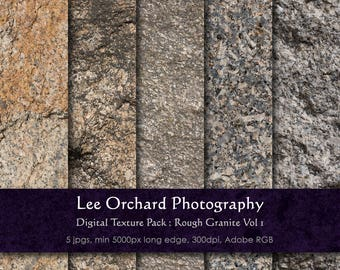 Large Granite Digital Textures : Rough Granite Vol 1 || Digital Paper / Digital Background