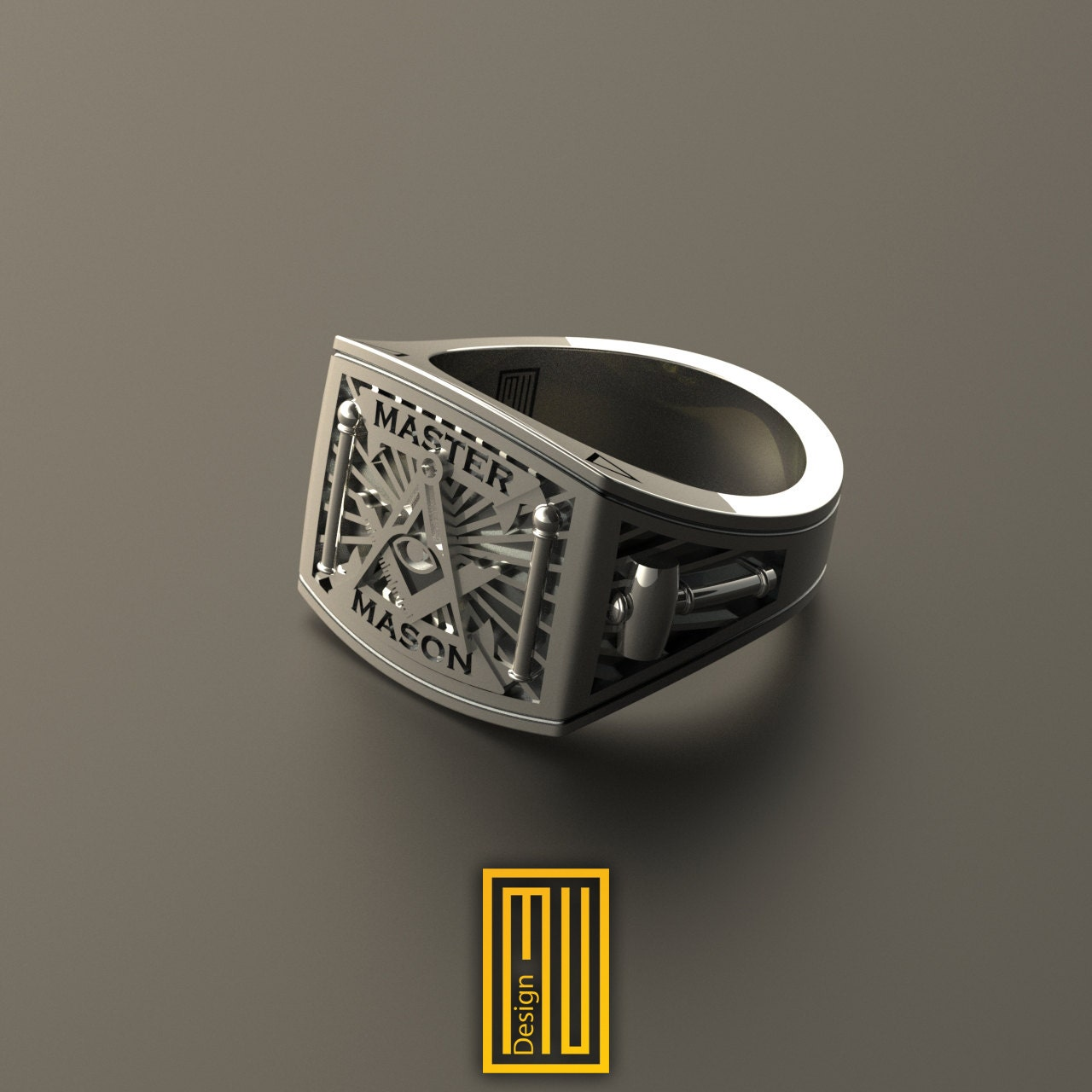 masonic ring unique design for 925k sterling silver