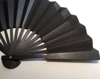 ELEGANCE Fan Black-EXPRESS delivery 2-3 business days-SAVE on Shipping/Free Shipping for the Second and Third items in this shop-Handmade