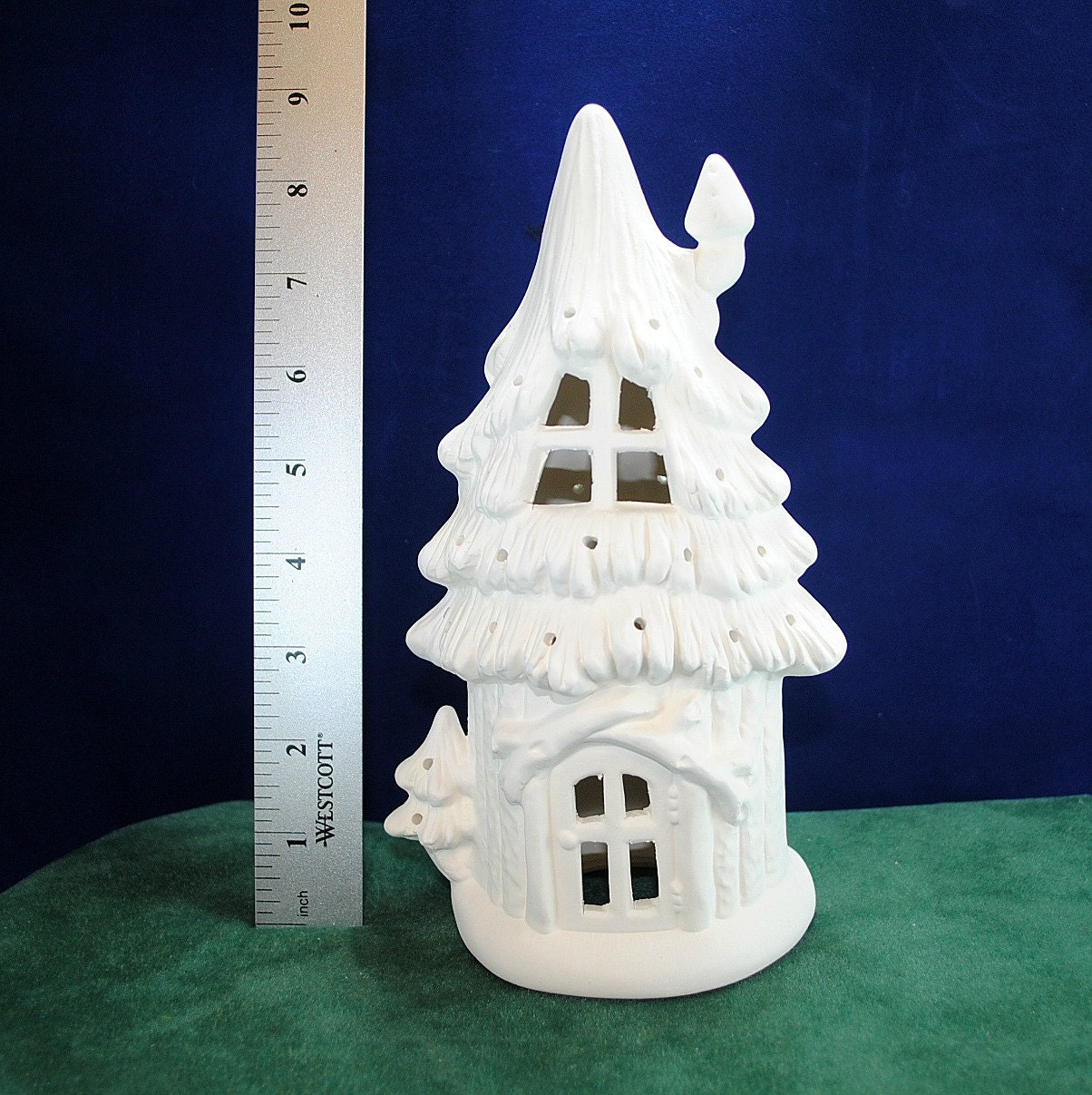 Fairy treehouse fairy house fairy cottage fun to paint for Ceramic house paint