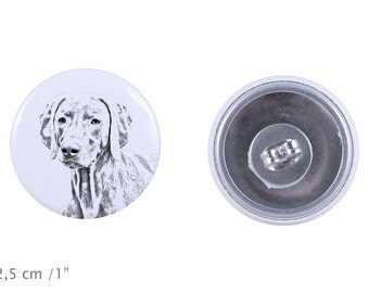 Earrings with a dog - Weimaraner