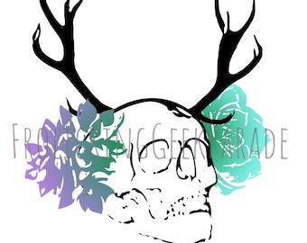 Digital artwork - Succulent Skull