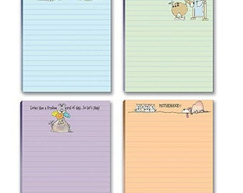 Funny Dog Theme Pads - 4 Assorted Note Pads - 611