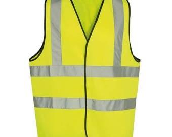 Kids Bright Yellow Hi - Vis Sleeveless Waistcoat In Three Different Sizes Active Children Hi - Vis Waistcoat