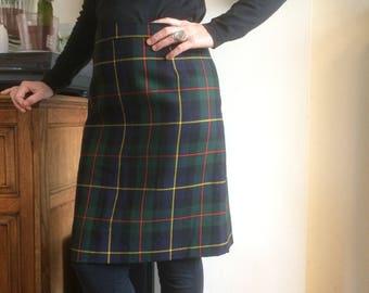 Tartan skirt| Vintage skirt |Gingham skirt | 70's skirt | windos skirt | Vintage windows skirt| vintage ruiten rok|  Geruite rok | Size M |