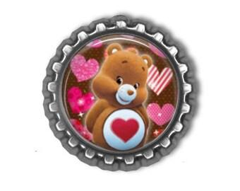 Care Bears TENDERHEART 3D Finished Bottle Cap