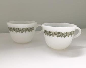 "Corningware/Pyrex ""Spring Blossom"" Coffee/Tea Cups"