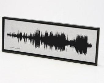 Turning Page - Sleeping At Last: Music Lyric Art Print, Framed Print, Canvas, Framed Canvas.