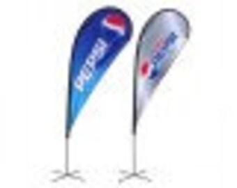 Custom Teardrop Flags 2.08' x 5'
