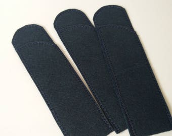 Pen Protector, Midnight Wool Felt Pen Protector Sleeves for Purse and Pocket, Crotchet Hook Case
