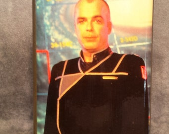 Jerry Doyle as Michael Garibaldi from Babylon 5 B5 - 8 oz stainless steel flask