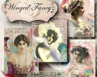 Printable Journal Cards  Gift Tags  Vintage Journal  Postcard Vintage  Shabby Chic Digital Paper  Ephemera Pack  Victorian Journal