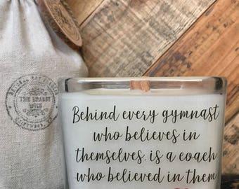 Gym Teacher Candle / Gymnast Coach Candle / Gymnastics Teacher Gift / Teacher Appreciation / Gifts For Teacher