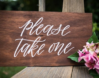 Please take one sign | Wedding sign | Wedding Décor | Wooden sign | Bespoke sign | wedding