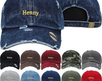 Henny logo 2 dad hat