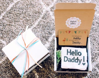 Pregnancy Announcement to Husband, Hello Daddy, Pregnancy Reveal to Husband, Pregnancy Announcement Box, Pregnancy Announcement Ideas