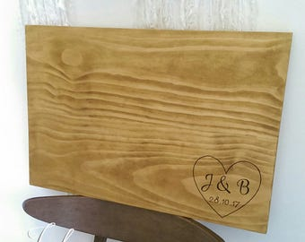 Guest book alternative - Personalised wooden signing board